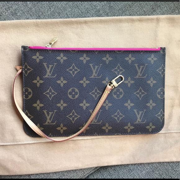 2619ce5213c6 Authentic Louis Vuitton Pochete pivone pink lining
